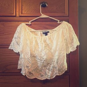 Size Small Forever 21 Lace Crop Top